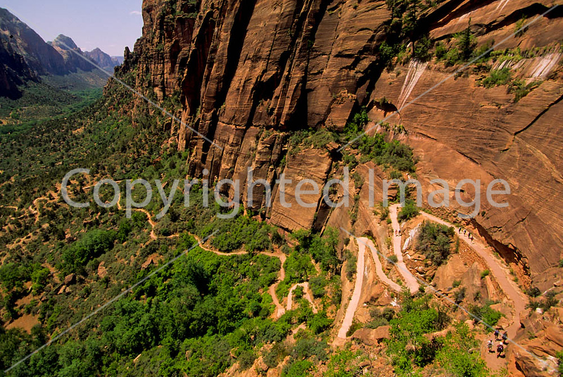 Hikers in Zion National Park, Utah - 3 - 72 dpi
