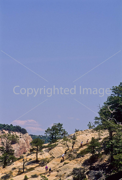 Hikers in Zion National Park, Utah - S11 - 54 - 72 ppi