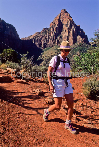 Hikers in Zion National Park, Utah - S11 - 83 - 72 ppi