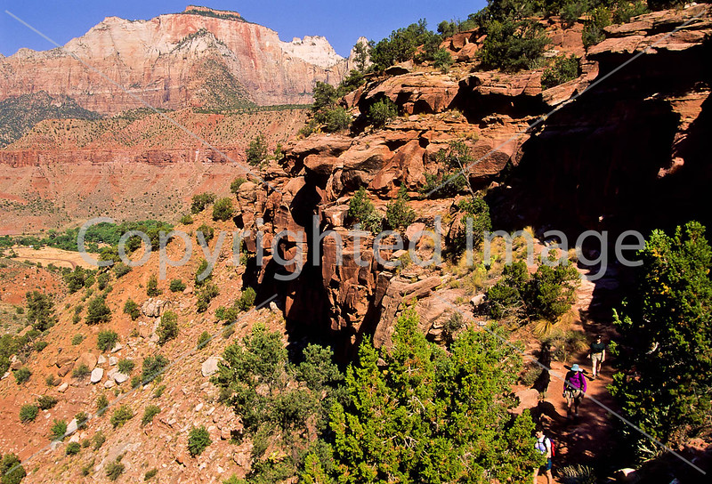 Hikers in Zion National Park, Utah - S11 - 32 - 72 ppi