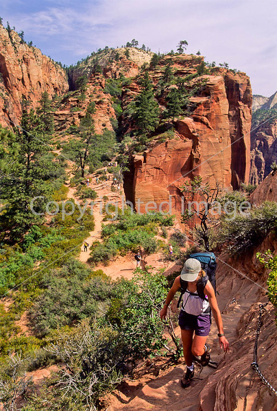 Hikers in Zion National Park, Utah - S11 - 68 - 72 ppi