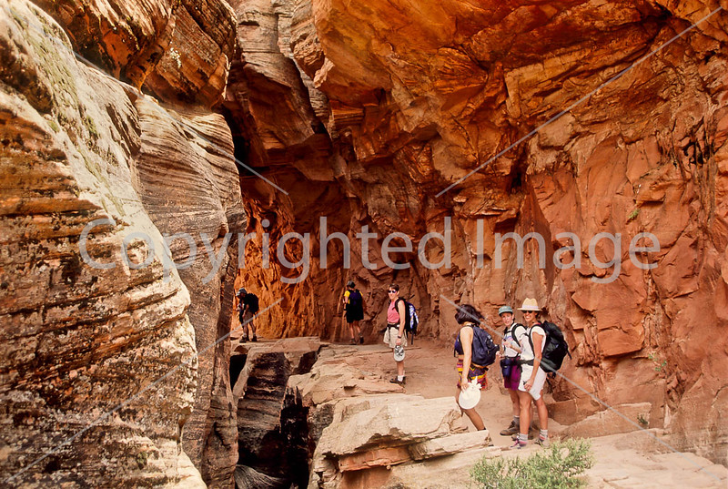 Hikers in Zion National Park, Utah - S11 - 280 - 72 ppi