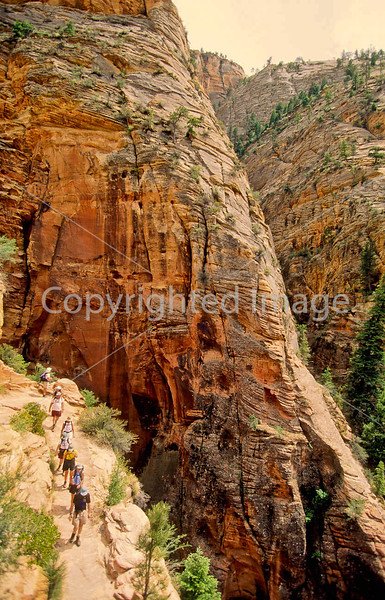 Hikers in Zion National Park, Utah - S11 - 182 - 72 ppi