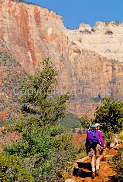Hikers in Zion National Park, Utah - S11 - 143 - 72 ppi