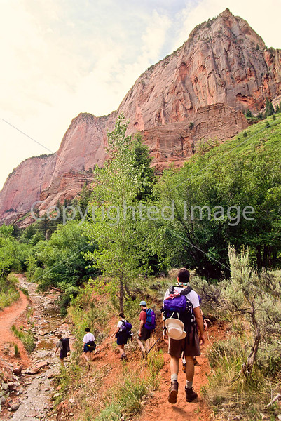 Hikers in Zion National Park, Utah - S11 - 324 - 72 ppi