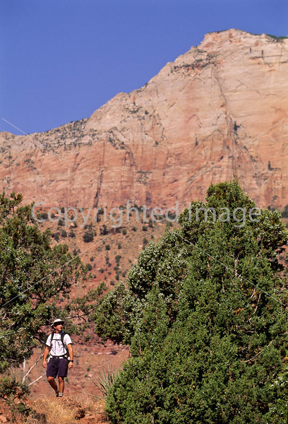 Hikers in Zion National Park, Utah - S11 - 88 - 72 ppi