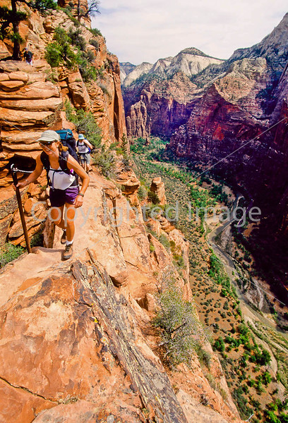 Hikers in Zion National Park, Utah - S11 - 267 - 72 ppi