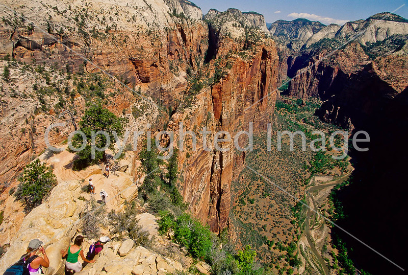 Hikers in Zion National Park, Utah - S11 - 272 - 72 ppi