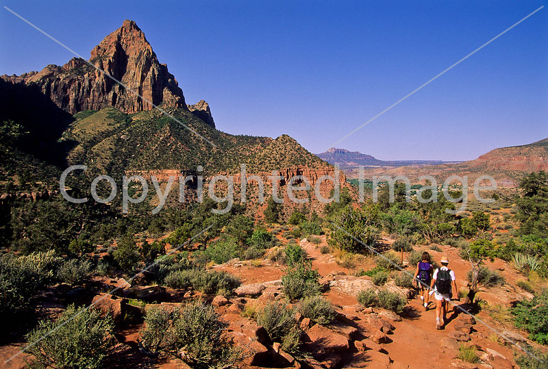 Hikers in Zion National Park, Utah - S11 - 24 - 72 ppi