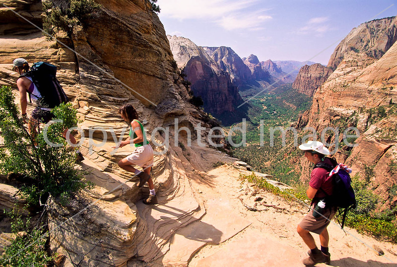 Hikers in Zion National Park, Utah - S11 - 31 - 72 ppi