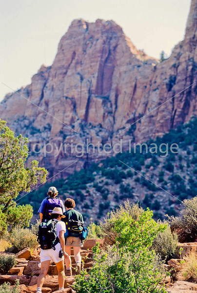 Hikers in Zion National Park, Utah - S11 - 224 - 72 ppi