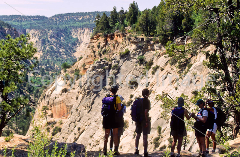 Hikers in Zion National Park, Utah - S11 - 337 - 72 ppi