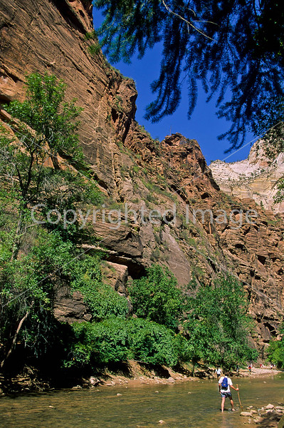 Hikers in Zion National Park, Utah - S11 - 92 - 72 ppi