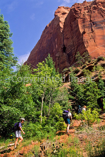 Hikers in Zion National Park, Utah - S11 - 74 - 72 ppi