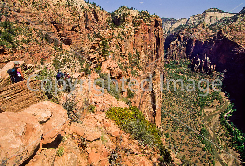 Hikers in Zion National Park, Utah - S11 - 14 - 72 ppi