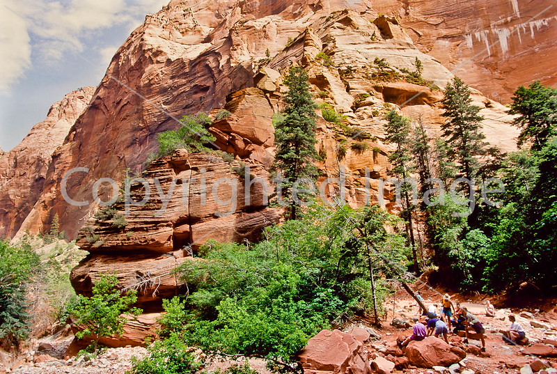 Hikers in Zion National Park, Utah - S11 - 279 - 72 ppi