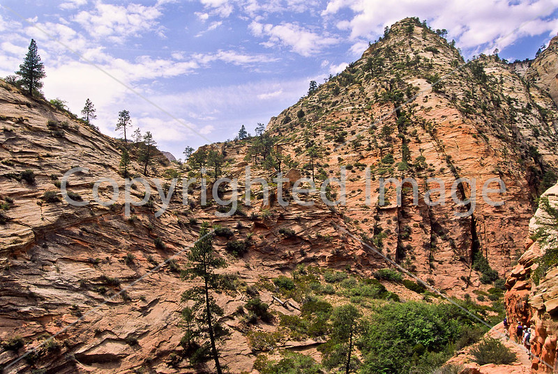 Hikers in Zion National Park, Utah - S11 - 13 - 72 ppi