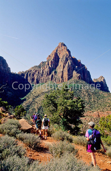 Hikers in Zion National Park, Utah - S11 - 263 - 72 ppi