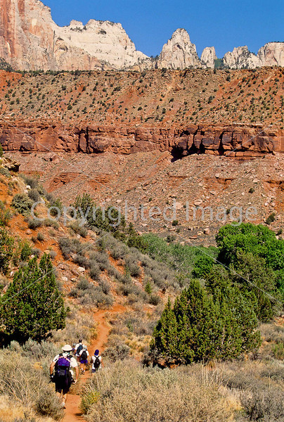 Hikers in Zion National Park, Utah - S11 - 188 - 72 ppi