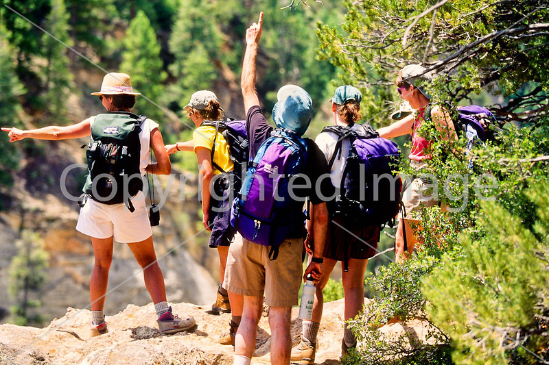 Hikers in Zion National Park, Utah - S11 - 108 - 72 ppi