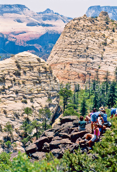 Hikers in Zion National Park, Utah - S11 - 295 - 72 ppi