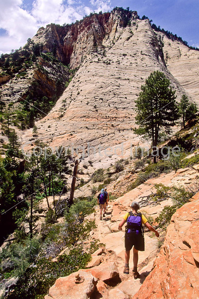 Hikers in Zion National Park, Utah - S11 - 318 - 72 ppi
