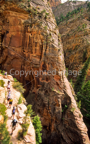 Hikers in Zion National Park, Utah - S11 - 40 - 72 ppi
