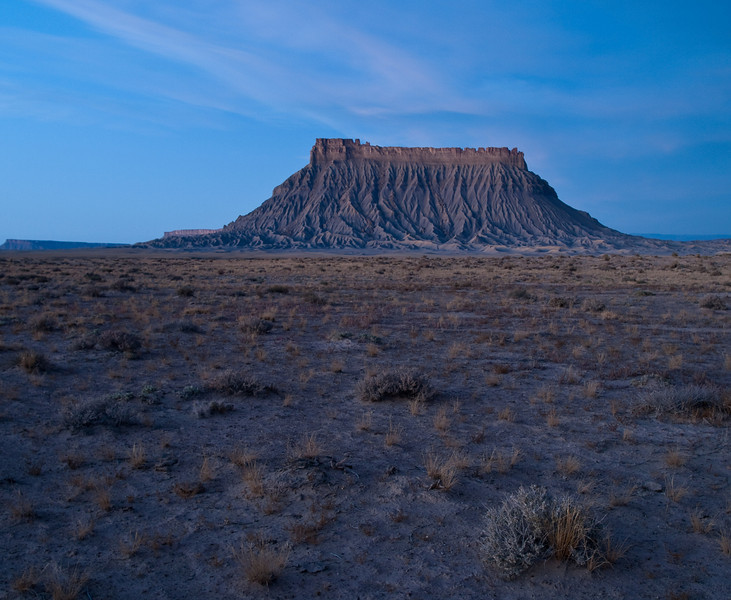 Fluted butte