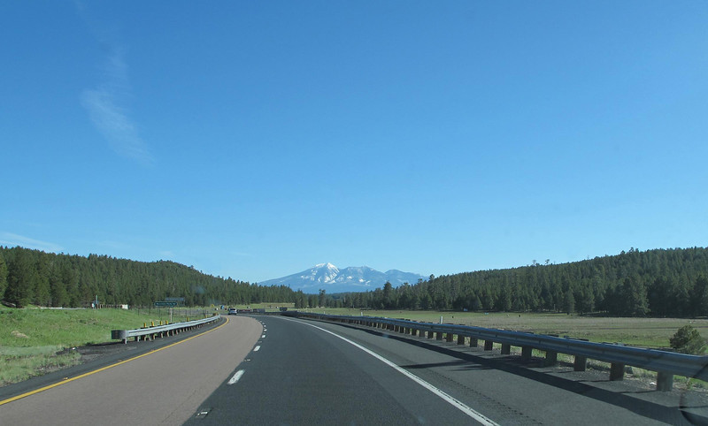 Heading north on I-17 toward Flagstaff