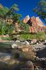 Virgin River & Emerald Pools Bridge, Zion National Park, Utah