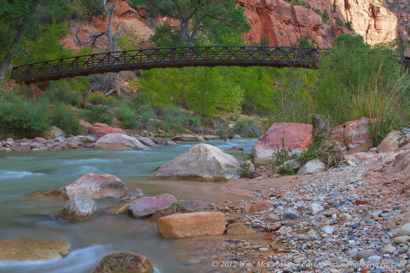 Virgin River & Emerald Pools Bridge, Zion National Park, Utah