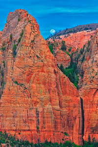 Full Moon Over Kolob Canyons