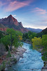 The Watchman & the Virgin River, Zion National Park, Utah