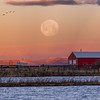 Farmington Bay Full Moon at Dawn
