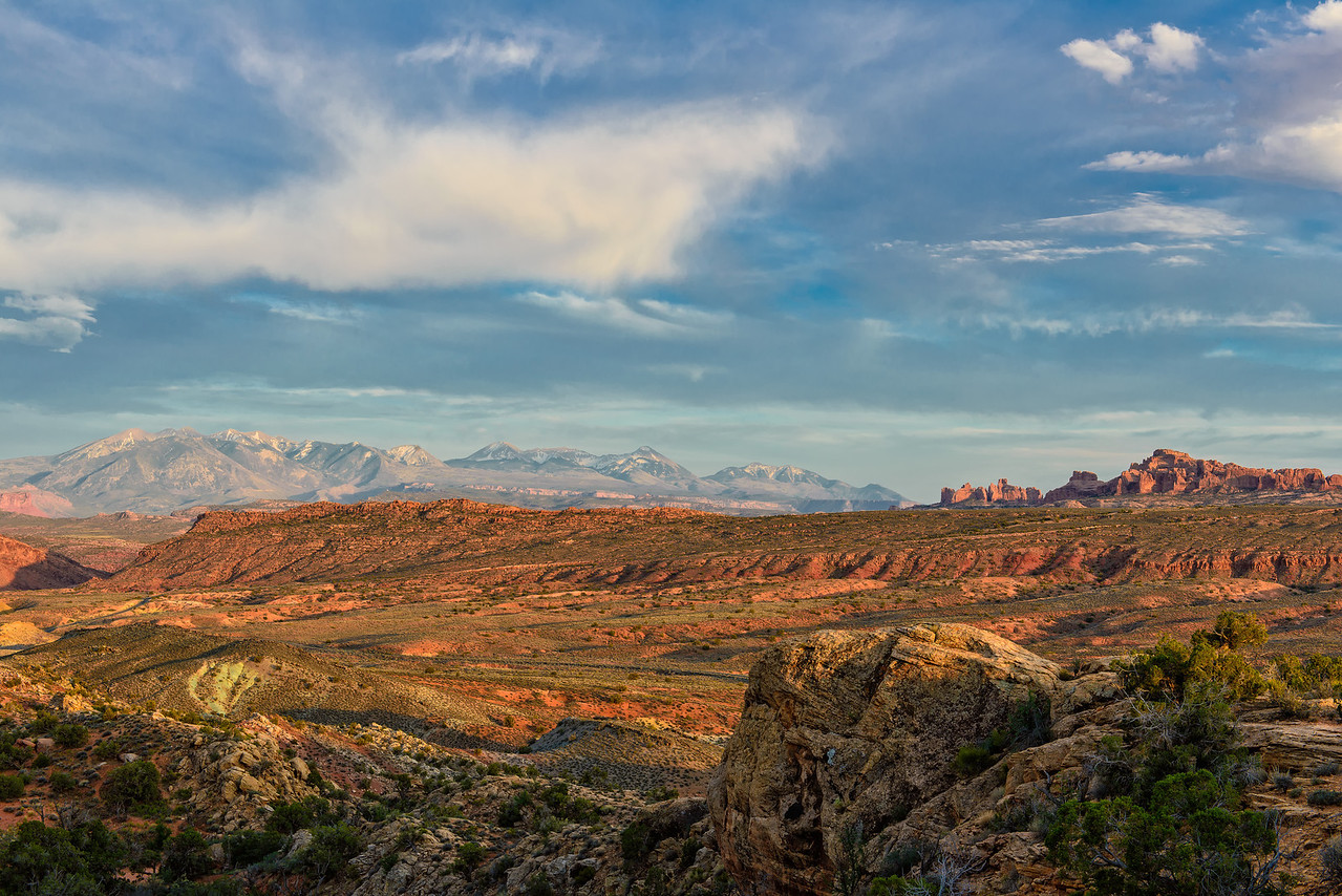 Arches National Park and La Sal Mountains