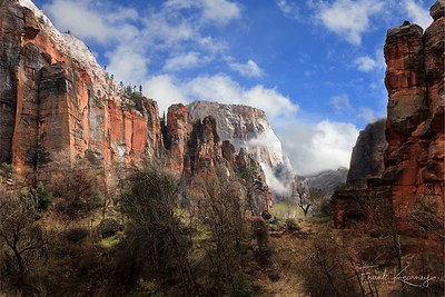 Rain turns to sun in Zion National Park