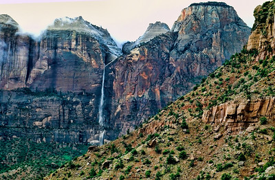 Waterfall at Zion, UT