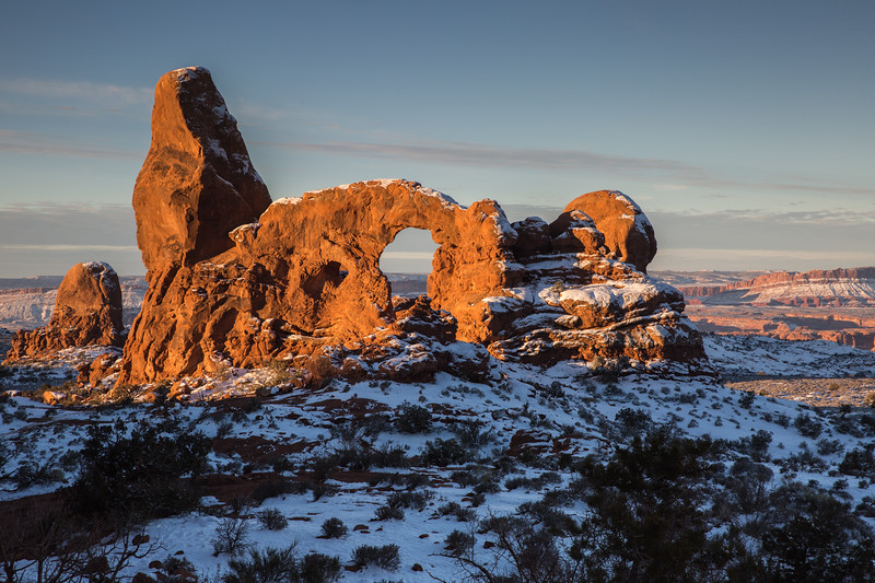 First Light on Turret Arch