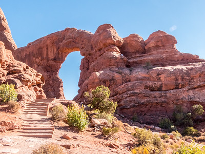 Turret Arch in Arches National Park
