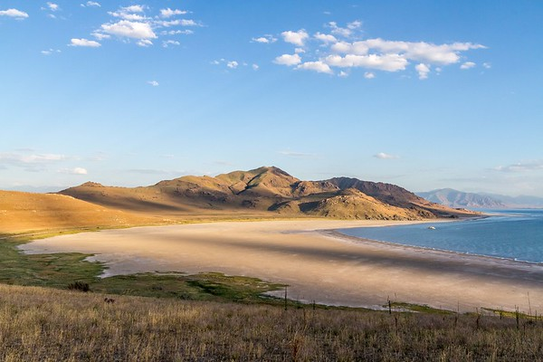White Rock Bay on Antelope Island in Utah