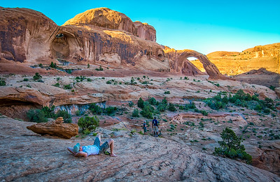 Taking a break in Canyonlands, Utah