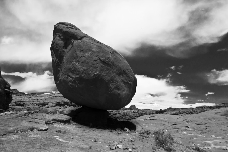 Balanced rock.<br /> <br /> Found this rock while traveling the Shafer Canyon Rd near Canyonlands Nat Park