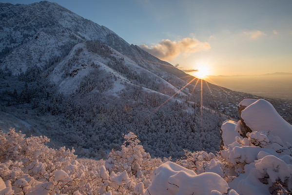 Mount Olympus Winter Sunset
