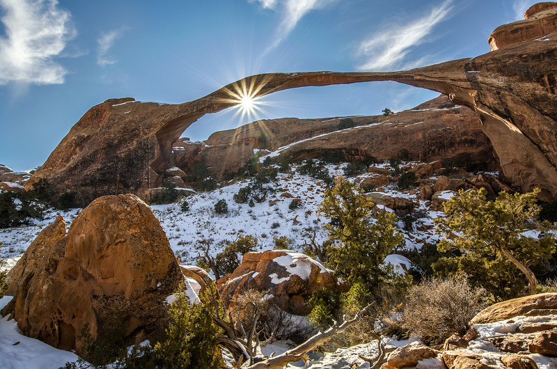 Sunburst at Landscape Arch