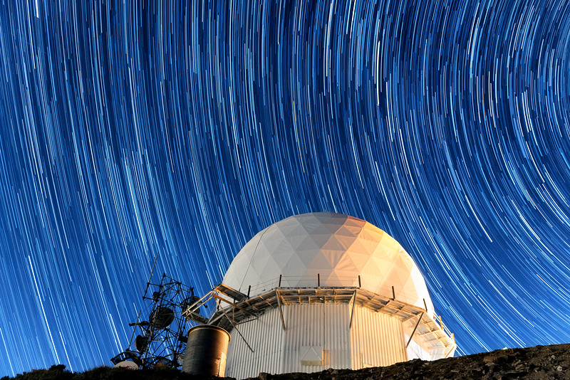 Star Trails over Francis Peak