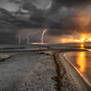 Saltair Sunset and Storm