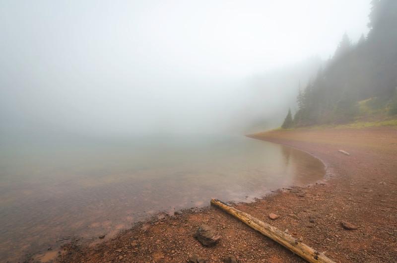 Fog at Desolation Lake
