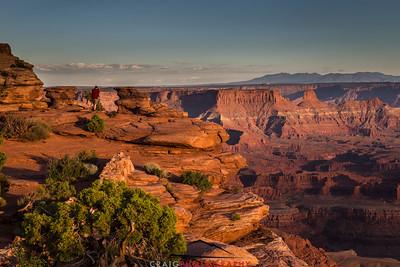 Red Shirt Blue Sky Dead Horse Point Moab Utah