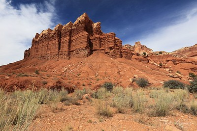 The Egyptian Temple in Capitol Reef National Park