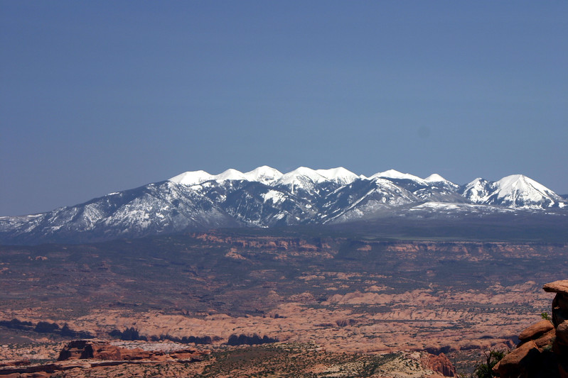 Mountains east of Mob, Utah in April